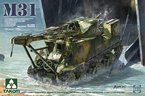 Takom 2088 M31 US Tank Recovery Vehicle 1:35 Scale Plastic Model Kit