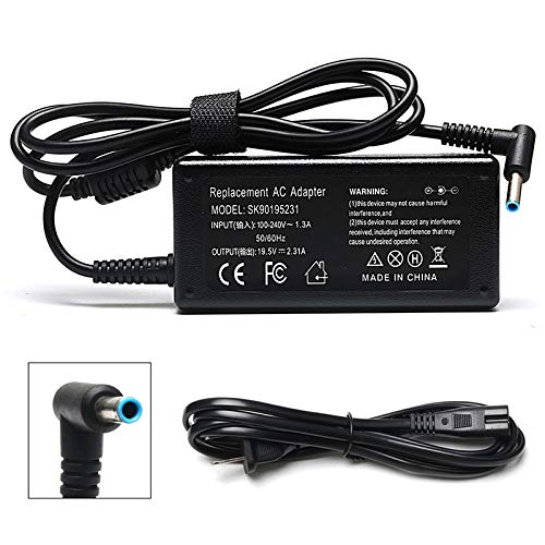 45W 19.5V 2.31A Ac Adapter Laptop Charger for HP Pavilion x360 Charger 15-f272wm 15-f387wm 15-f233wm 15-f222wm 15-f211wm 15-f337wm 17-g121wm 17-g119dx Laptop Notebook Power Supply Cord Plug ()