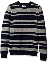 Men's Striped Wool Crew Sweater