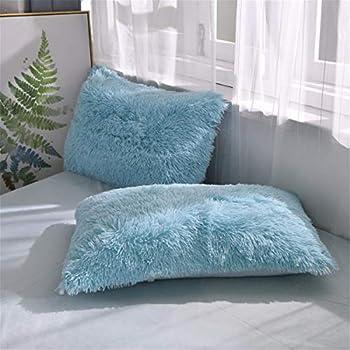 Amazon Com Liferevo 2 Pack Shaggy Plush Faux Fur Pillow