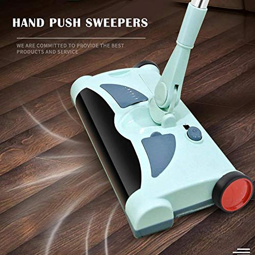 Electric Spin Mop with Best Design, 0.28l Electric Floor Mops Push Type Hand Magic Broom Sweepers Dustpan - Floor Mop, Cordless Electric Floor Sweeper, Rotary Sweeper, Cordless Electric Broom