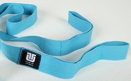 Tune Up Fitness Stretch Strap, Great for Flexibility, Increased Mobility, Range of Motion, Injury Prevention and a must for Runners, Cyclists, Yogi's and Athletes by Tune Up Fitness