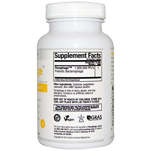 Arthur Andrew Medical Floraphage, 15 mg, 90 Count