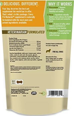 Pet Naturals of VT Hip + Joint Supplements for Dogs (Pack of 2)