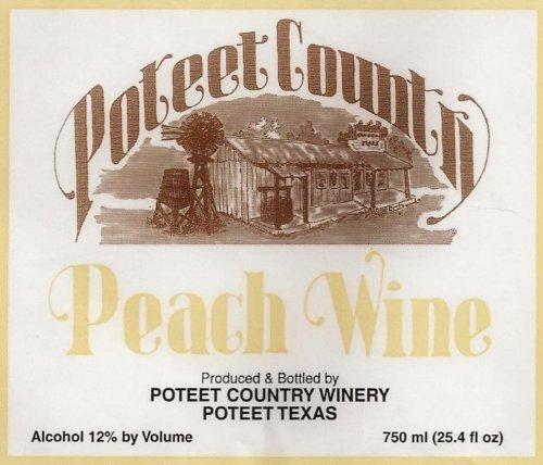 Poteet Country Winery Peach Wine 750 mL