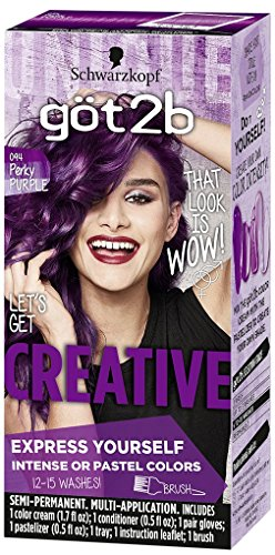 Got2b Creative Semi-Permanent Hair Color, 094 Perky Purple by Got2b