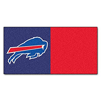 FANMATS NFL Buffalo Bills Nylon Face Team Carpet Tiles