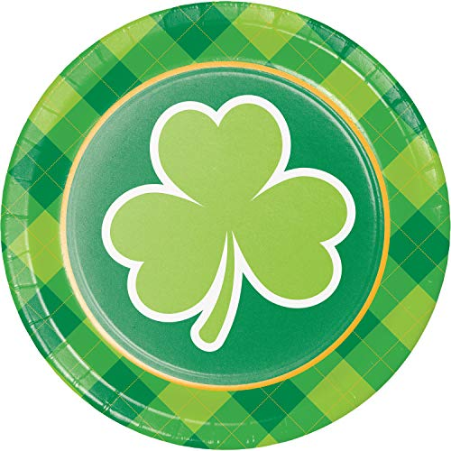 (St. Patrick's Day Shamrocks Dessert Plates, 24)