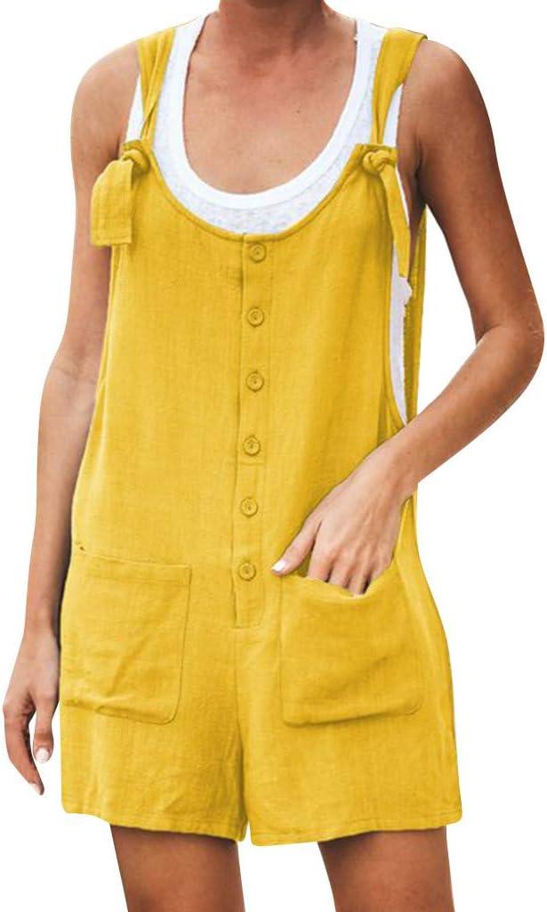 Mjuan Womens Summer Fashion Casual Sleeveless Striped Printed Pocket Button Mini Dress Blue