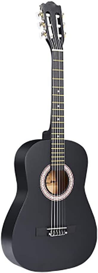 NUYI 30 Pulgadas 34 Pulgadas 36 Pulgadas Mate Redondeado Ciprés Completo Guitarra Acústica Clásica Principiante Enseñanza En El Hogar Unisex,34inchblackcolor