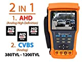 "Evertech AHD + Analog CCTV TESTER Pro 3.5"" TFT LCD Monitor Video Tester, PTZ Tester & Cable Tester with Multimeter 11 Functions in One for SECURITY Camera DVR Systems"