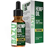 Cheap Hemp Oil for Pain Relief 500MG – All-Natural Extract – Flavored with Peppermint Oil – Promotes Calm and Relaxation – Contains Omega 3 & 6 Fatty Acids – 1 FL OZ – One Month Supply – Bazu