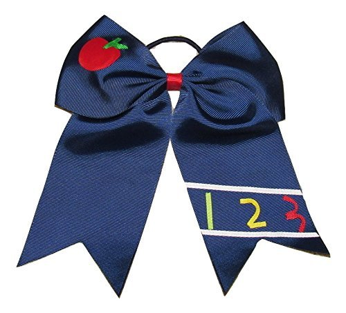 - NEW APPLE & 123 Cheer Bow Pony Tail 3 Inch Ribbon Girls Cheerleading Dance Practice Football Games Uniform Back to School by Bianca's Boutique