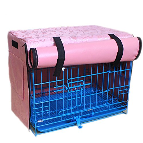 Vedem Pet Polyester Waterproof Kennel Crate Cover for Wire Crates (S, Pink)