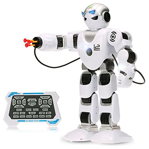 Haite NO.K1 Smart Remote Control Robot Toys Alpha Modern Companion for Kids with Shoot Music Dance Arm-swing,2.4G Intelligent Programmable Humanoid RC Robot Kit