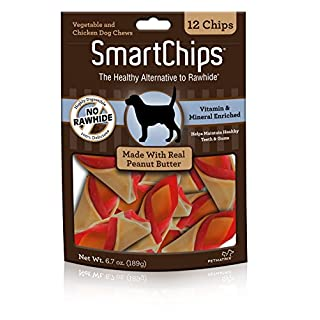 SmartBones SBPB-00235 SmartChips For Dogs, Rawhide-Free 12 Count