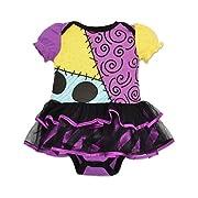 Baby Girls' Harlequin Demon Tutu Bodysuit Costume (12-18 Months)