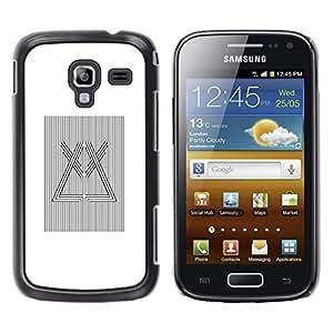 MobileHut / Samsung Galaxy Ace 2 I8160 Ace II X S7560M / Prism Refraction Light White Black / Delgado Negro Plástico caso cubierta Shell Armor Funda Case Cover