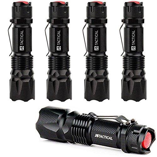 J5 Tactical V1-Pro Flashlight (5 Pack) The Original 300 Lumen Ultra Bright, LED 3 Mode Flashlight …