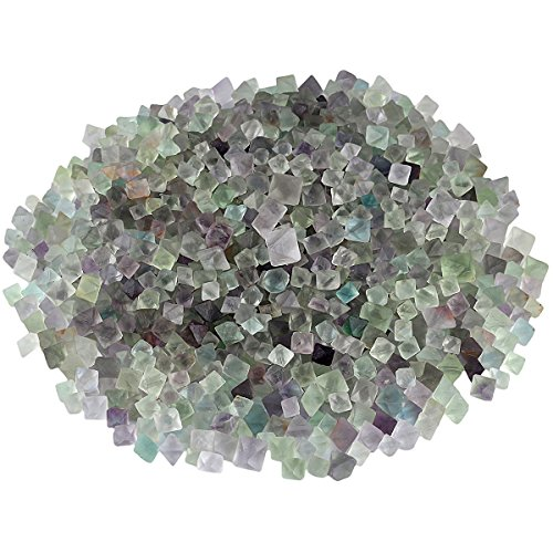 SUNYIK Natural Fluorite Rough Stone,Rhombus Crystal Quartz Point for Tumbling,Cabbing, 0.1-0.3 inch,0.5pound (About 230 Gram)