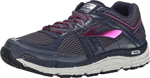 Brooks Women's Addiction 12 Ombre Blue/Obsidian/Fuchsia Purple Sneaker 7 2A - Narrow