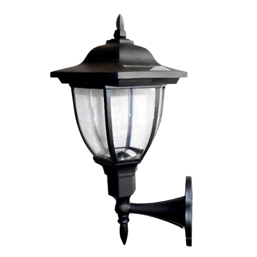 Awakingdemi Outdoor Solar Power LED Light Path Way Landscape Garden Fence Wall Lamp (Warm Light)
