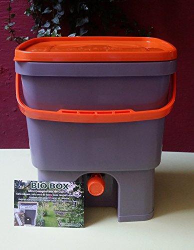 Lot de 2 composteurs de cocina Biobox 20L, incluye 1 kg D – Activador Bio