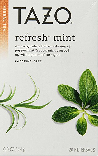 Tazo All Natural Herbal Infusion Tea Refresh Mint -- 20 Tea  Bags (Pack of 2) -