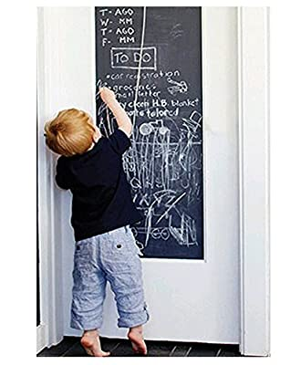 "EachWell DIY Vinyl Chalkboard Removable Blackboard Wall Sticker Decal 18 x 79 "" with 5 Free Chalks for Home Office"