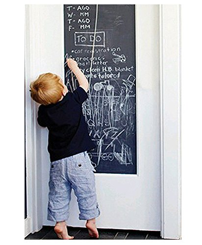 (EachWell DIY Vinyl Chalkboard Removable Blackboard Wall Sticker Decal 18 x 79 with 5 Free Chalks for Home Office)