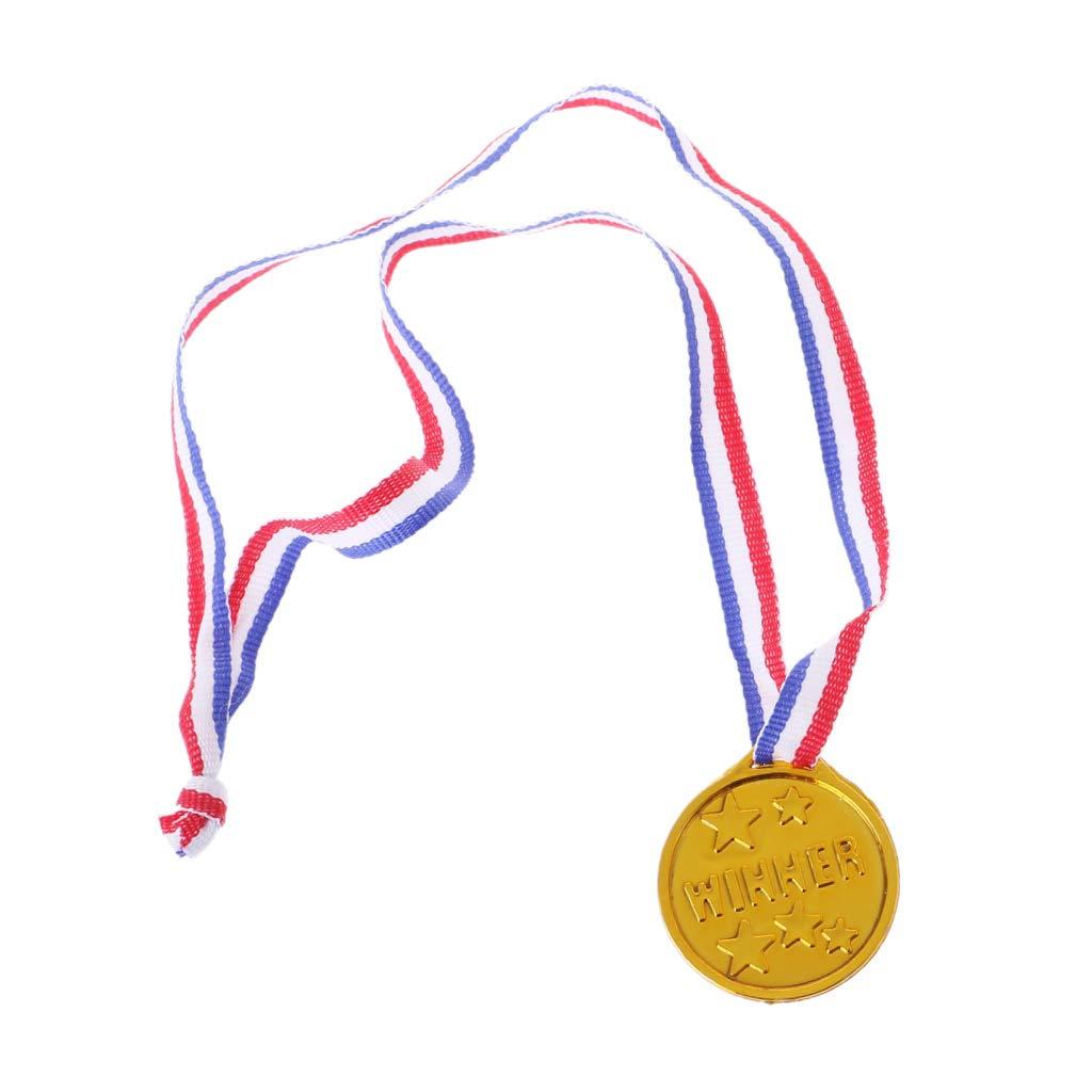 ruiruiNIE 12 St/ücke Medaillen Kunststoff Gold Tone Winner Award Schulbedarf Kinder Spielzeug Foto Requisiten
