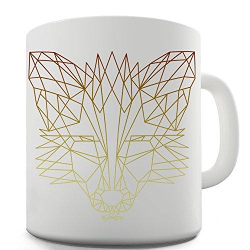 Funny Mugs For Women Geometric Fox By Twisted Envy 15 OZ
