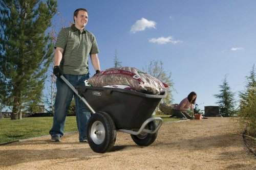 081483003726 - Lifetime 65034 Two Wheel Wheelbarrow, 6.5 Cubic Feet Capacity carousel main 2