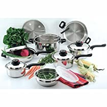 Chefs Secret 15pc 12-element T304 Stainless Steel Cookware