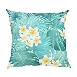 KIKOY Hot Deals Flower Print Pillow Case Polyester Sofa Car Cushion Cover Home Decor (B)