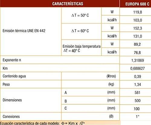 FERROLI RADIADOR ALUMINIO EUROPA 600 8 ELEMENTOS: Amazon.es: Bricolaje y herramientas