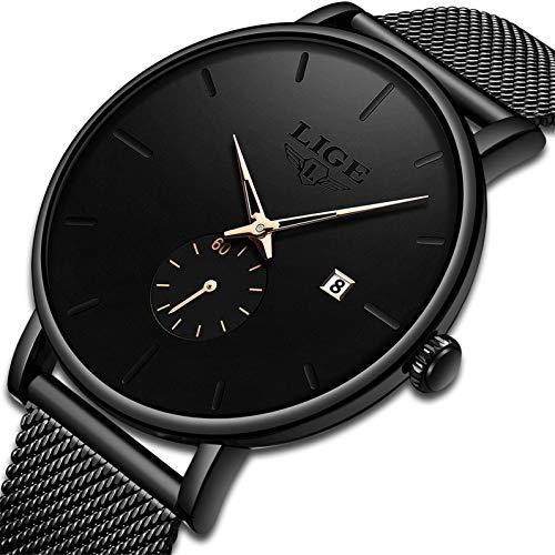 Mens Watches Fashion Simple Minimalist Waterproof Quartz Analog Watch Luxury Brand LIGE Business Classic Dress Wrist Watch