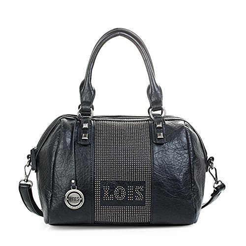 Detrás Con Shoulder Asa With Zipper Strap Lois Lois 94 Bolsillo Bowling Bowling Bandolera 94731 Con Bolso Con Color Black Black Mujer Tipo Leather Cremallera Synthetic 731 Leatherette Double Negro Cremallera Bag Negro Polipiel Sintética Color Doble Handle Adjustable Women De Behind Piel Type Pocket Ajustable Zippered wvxfvqRY