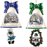 Christmas Ornaments: Thomas Kinkade Ringing In The Holidays Ornament Set: Set 4 by The Bradford Exchange