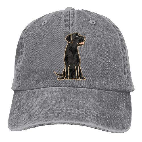 Arsmt Black Labrador Retriever Denim Hat Adjustable Unisex Snapback Baseball Hats