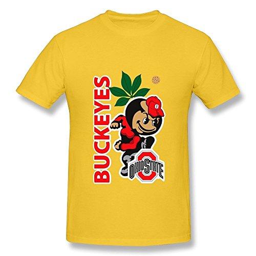 HUBA Men's Tshirts Ohio State Buckeyes 2 Yellow Size M