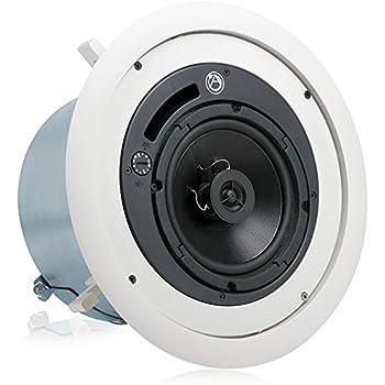 Amazon Com 6 In Enclosed Ceiling Speaker Set Of 2