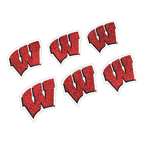 Wisconsin Badgers Ncaa Peel - EyeBlack Wisconsin Badgers NCAA Glitter Decals, Perfect for Game Day and Tailgate, 6 Decals