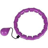 Pterygoid Slimme gewogen fitness hoelahoepels, met automatische draaiende hoepel 24 afneembare knopen verstelbaar…
