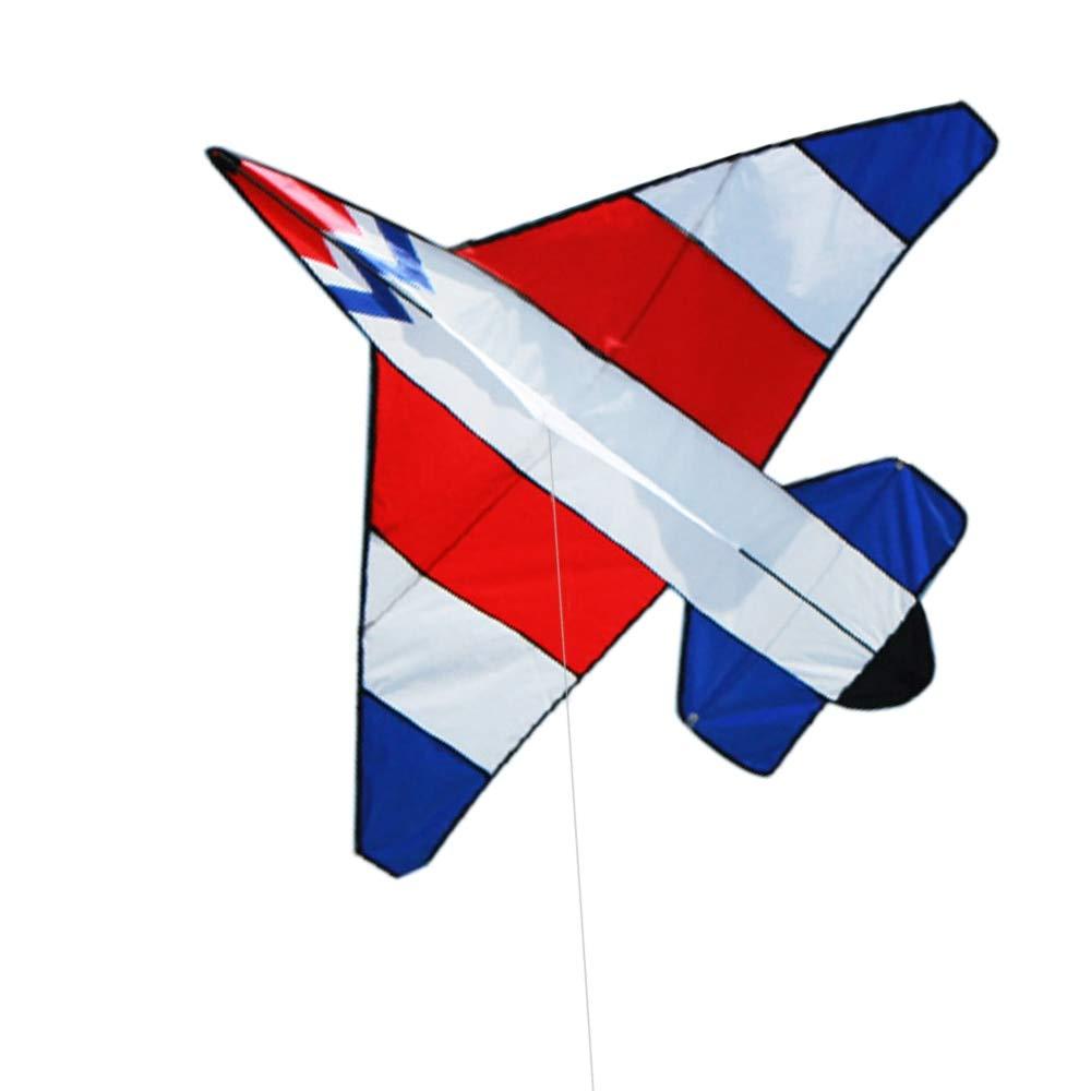 カラフル カートゥーン 飛行機 カイト アウトドア スポーツ シングルライン フライングカイト 30mのフライングライン 子供 大人用 30M QMCYT1102 B07QR9DPW4 ホワイト