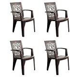 Cello Ideal Set of 4 Chairs (Ice Brown)