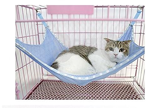 akldigital - Hamaca de Malla Transpirable para Gato con diseño de Animales, Color Azul: Amazon.es: Productos para mascotas
