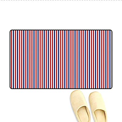 Door Mats Symbolic Colors of American Independence Day Classic Tones National Concept Bath Mats for Bathroom Red White Night Blue