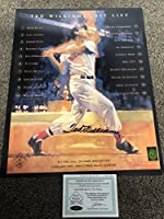 Ted Williams Signed Autographed Boston Redsox 16x20 Photo Green Diamond Ted Williams Foundation COA & Hologram