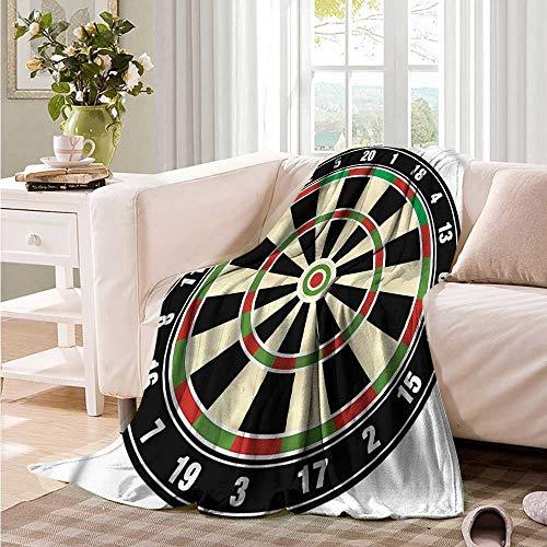 Oncegod Travel Blanket Sports Dart Board Lifestyle Blanket on Bed Sofa Bedding 60